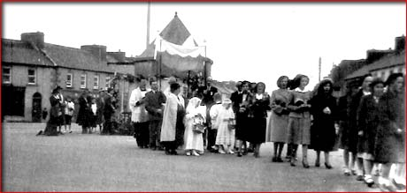 charlestown west ireland procession ca1950