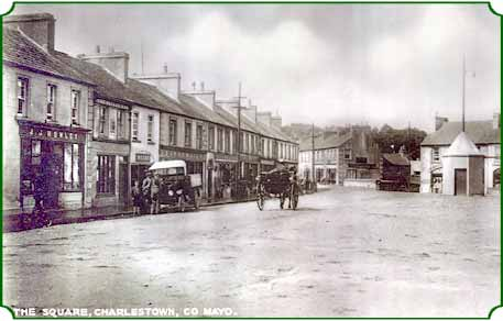 the square, charlestown, county mayo, ireland