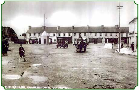 square, charlestown, county mayo, ireland